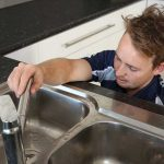 plumbing maintenance - checking the kitchen tap
