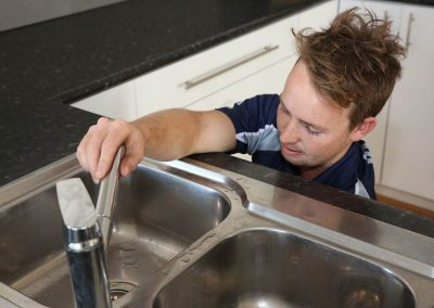 Plumbing Maintenance on Kitchen Tap