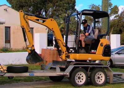 Loading up the Excavator